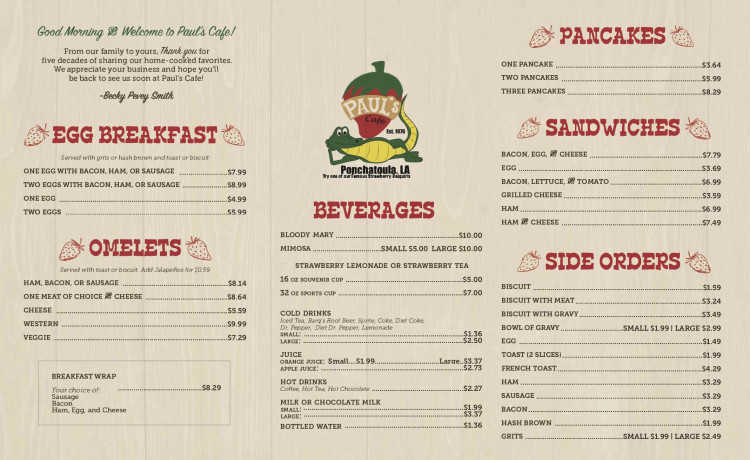 Breakfast Menu - Full Menu