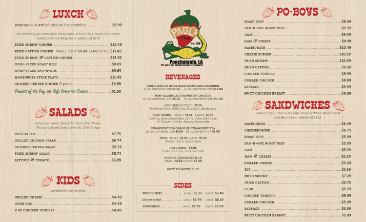 Lunch Menu - Full Menu